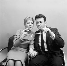Cigarette Holder Built For Two, 1955. guess they thought of everything.