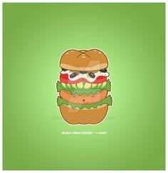 Kawaii Ultimate Veg Sandwich by KawaiiUniverseStudio.deviantart.com on @DeviantArt