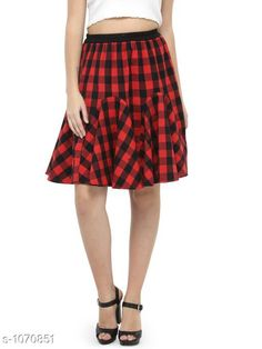 Skirts Beautiful Cotton Skirt  *Fabric* Cotton  *Waist Size* 34 in, 36 in, 38 in,40 in, 42 in, 44 in  *Length* Up To 30 in  *Type* Stitched  *Description* It Has 1 Piece Of Skirt  *Work* Checkered  *Sizes Available* 26, 28, 30, 32, 34, 36, 44 *   Catalog Rating: ★4.1 (287)  Catalog Name: Ladies Checkered Cotton Gored Skirts CatalogID_38730 C79-SC1040 Code: 253-1070851-