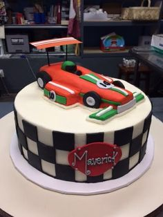 Racing Birthday Cake - Adrienne & Co. Bakery