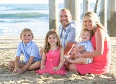 Family Photo Session on Beach HB