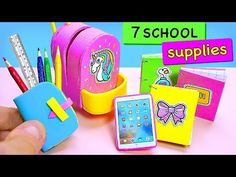 Hi everyone, I am doing your requests one by one and this one is related with DIY School Supplies. Doll House Crafts, Doll Crafts, Fun Crafts, Paper Crafts, Miniature Crafts, Miniature Dolls, Muñeca Diy, Doll Videos, Diy Barbie Furniture