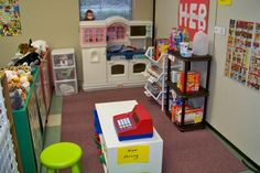 Grocery store centre... great dramatic play ideas