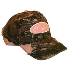 HillBilly+Brand:+Break+Out+Green/Pink+Camo+Cap+w/+Pink/White+Patch