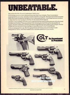 1978 COLT Revolver & Pistol AD 7 Models shown includes PYTHON