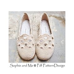 Venezia Slippers Basic Crochet Pattern - Espadrilles - Instant Download