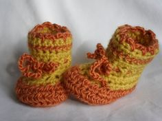 Just listed Baby booties  Pumpkin Yellow  by Pepperbelle on Etsy, $12.00    see more at: http://www.etsy.com/shop/Pepperbelle