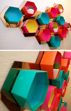 Upcycle Old Gift Boxes into Stylish Wall Storage | 32 DIY Storage Ideas for Small Spaces | DIY Organization Ideas for Small Spaces