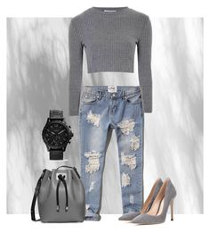 Boyfriend jeans by marieck-1 on Polyvore featuring polyvore, fashion, style, Glamorous, Abercrombie & Fitch, Gianvito Rossi and Michael Kors Boyfriend Jeans, Abercrombie Fitch, Polyvore Fashion, Michael Kors, Glamour, Style, Swag, The Shining, Outfits