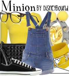Disney Bound - Minion (Despicable Me) @Anna Totten Totten Thornton This reminds me of you :)