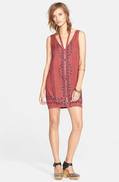 Free People 'Diamonds & Snakes' Shift Dress | Nordstrom