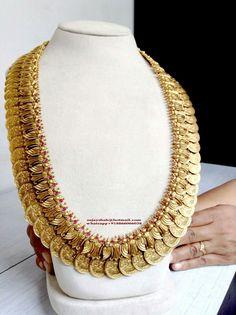 Kasumala with Leafy Design Indian Wedding Jewelry, Bridal Jewelry, Gold Jewellery Design, Gold Jewelry, Jewelry Model, Designer Jewelry, India Jewelry, Temple Jewellery, Azzaro