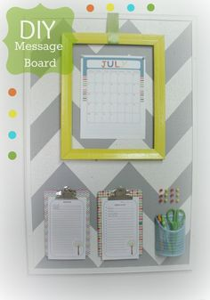 DIY Message Board, create a message board that works!