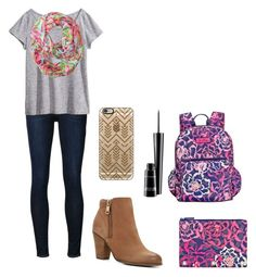 """""""I want summer back!"""" by mgropp ❤ liked on Polyvore featuring Frame Denim, H&M, Lilly Pulitzer, ALDO, Casetify, Vera Bradley and MAC Cosmetics"""