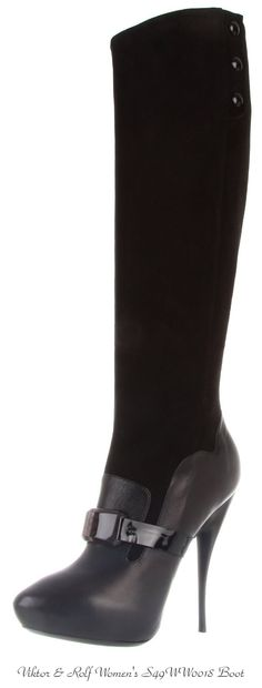 Every woman needs a pair of tall black boots!  Viktor & Rolf Designer Boot