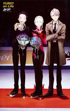 Image about anime in Yuri! On Ice by (≧▽≦) on We Heart It Manga Bl, Manga Anime, Kill La Kill, Manhwa, Kodomo No Omocha, Yuri On Ice Comic, Tsurezure Children, Katsuki Yuri, Yuuri Katsuki
