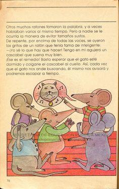 Libros de Primaria de los 80's: La junta de los ratones (Mi libro de segundo Lecturas)