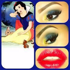Poison eyes to go along with the poison apple  #maccosmetics #makeup #disney #princess #snow #white #apple #red #lips #lashes - @viva_glam_kay- #webstagram