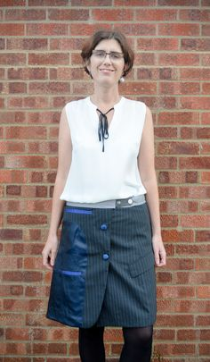 Vicky Myers cleverly refashioned a suit jacket into a fantastically unique skirt – grab the how to over on her blog: Got a groovy refashion to share? How about a funky upcycled accessory or d…