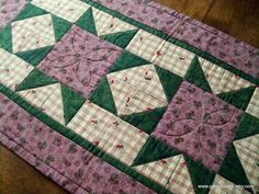 Quilted Table Runner Farm House Decor by PatsPassionQuilteds, $44.00
