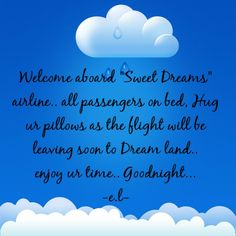 Nitez..nitez...sweet dreamzzzzzzz...