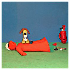 Bob asked Scooby to score his golf game out of 10Scooby took all the elements into accounthmmhe was hoping for higher #golf #fun #art #artist #golfing #golfwang #tips #creative #clay #sculpture #bob_scooby #polymerclay #picoftheday #artoftheday #photo #cute #golflife #artwork #golfer #dog #doglover #golftips
