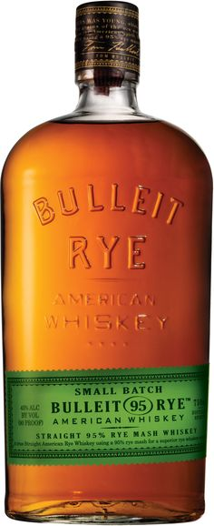 Made from a mash of 95% rye and 5% malted barley, Bulleit Rye was named the world's best rye whiskey at the 2014 Ultimate Spirits Challenge.