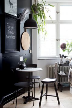 matte black kitchen nook
