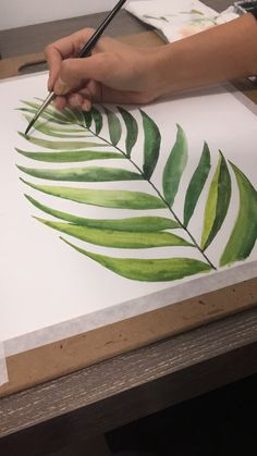 Watercolor painting videos, tropical leaves Video of me painting a tropical pine tree Plant Painting, Plant Drawing, Plant Art, Pine Tree Painting, Watercolor Leaves, Watercolor Paintings, Plants Watercolor, Tree Paintings, Painting Leaves Acrylic