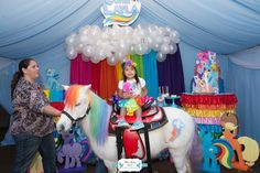 Layla's Rainbow Dash 3rd Birthday Party | CatchMyParty.com