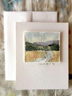 Watercolor Art Lessons, Watercolor Sketchbook, Watercolor Illustration, Watercolor Paintings, Watercolors, Landscape Sketch, Watercolor Landscape, Landscape Paintings, Karten Diy