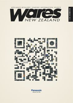 Print advertisement created by Publicis, New Zealand for Panasonic, within the category: Electronics, Technology. Advertising Agency, Advertising Design, Qr Codes, Teaser Campaign, Great Ads, Communication Design, Grafik Design