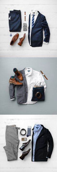 Men outfit ideas: Less casual   For daily ideas and inspiration, follow my Pinterest: @byomid : )
