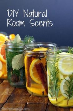 DIY Natural Room Scents by yas2373 Pot Mason, Mason Jars, Room Scents, Pot Pourri, Tips & Tricks, House Smells, Do It Yourself Home, Natural Cleaning Products, Household Products