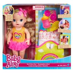 Baby Alive Darci's Dance Class Blonde Hair Doll - Hasbro Ages 3 Kohls EXC for sale online Muñeca Baby Alive, Baby Alive Dolls, Baby Dolls, Reborn Dolls, Toys For Girls, Kids Toys, Surprise Baby, Baby Doll Accessories, African American Dolls