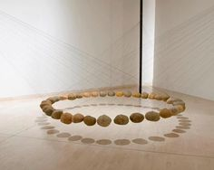 'Suspended stone circle' by Ken Unsworth, Art Gallery of W.A., 1978 - 1981