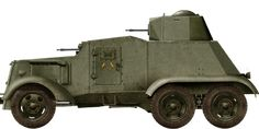Republican AAC-37 in green livery. Turrets are believed to have just been armed with single machine guns, originally.