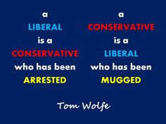 A liberal is a conservative...