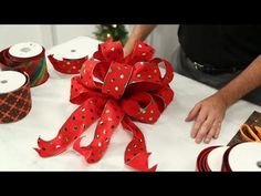 how to make a double looped bow for christmas trees or wreaths youtube