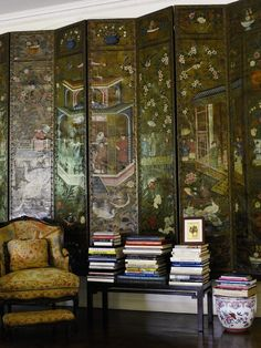 A beautiful Oriental Screen from THE ESTATE OF MRS. ASTOR AT SOTHEBYS