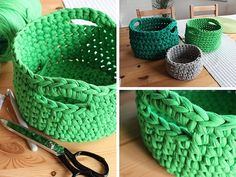 Tutoriale DIY: Cómo hacer un cesto de trapillo vía DaWanda.com