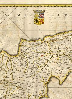 Blaeu Cyprus 5. Древние карты мира в высоком разрешении - Старинные карты
