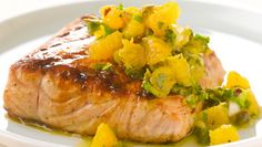 Grilled Salmon w/Citrus Salsa Verde - This is the best salmon/fish recipe I have ever had.  I am not usually a fan of fish.