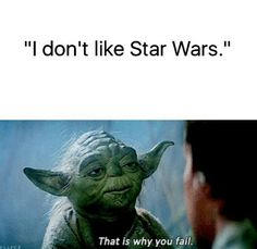 No kidding  I love Star Wars people just don't know the potential and love of the movies