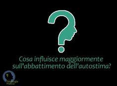 #psicologia  Punto di domanda:  Cosa influisce maggiormente sull'abbattimento dell'autostima?  Leggi cosa ne pensa la gente:  https://www.facebook.com/photo.php?fbid=10151167121137211=a.10150337734927211.359043.112876172210=1  Leggi le risposte alle altre domande su: http://www.davidealgeri.com/punti-di-domanda.html