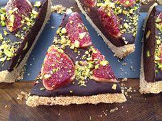 Tarta de chocolate, higos y pistachos | delikatissen | Bloglovin