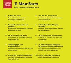 Virtuale è reale #paroleostili #manifesto #comunicazionenonostile