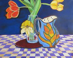 "Tulip New Day- 20x16"" by SG Criswell"