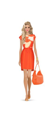 Top Look by: AngelEyez6 Beautiful, creative and tangerine look!