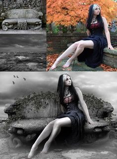 Another epic Photoshoped before and after. #Gothic #Emo #Dark
